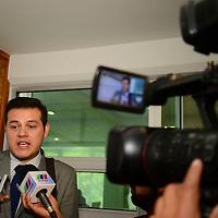 Toluca, México.- Avelino Cortizo, asesor en materia de logística empresarial sostuvo una reunión con integrantes del Consejo de Cámaras y Asociaciones Empresariales del Estado de México (CONCAEM).  Agencia MVT / Crisanta Espinosa.
