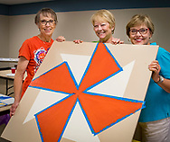 Barn Quilt Workshop in Fairview. This workshop was for smaller, indoor quilts.