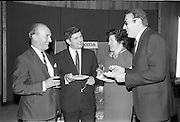 "17/09/1968<br /> 09/17/1968<br /> 17 September 1968<br /> Roma Foods launch new cookery competition at a reception in Liberty Hall, Dublin. The ""Great Pasta Recipe Competition"" was sponsored by Roma Food Products Ltd. in conjunction with Alitalia Airlines and the Italian State Tourist Office. Picture shows (l-r): Mr D.J. Fitzpatrick, Sales Manager, Alitalia Airlines, with Miss Honor Moore and Mr Jimmy Flahive, both of whom would judge the competition and Dr Francesco Landuzzi, Director of The Italian State Tourist Office, Dublin."