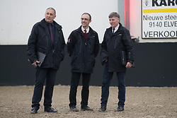 Jury, Stefaan Desmedt, Herman Van den Broeck, Herman Bode<br /> BWP Keuring - 3de Phase<br /> Hulsterlo - Meerdonk 2017<br /> © Hippo Foto - Dirk Caremans<br /> 18/03/17