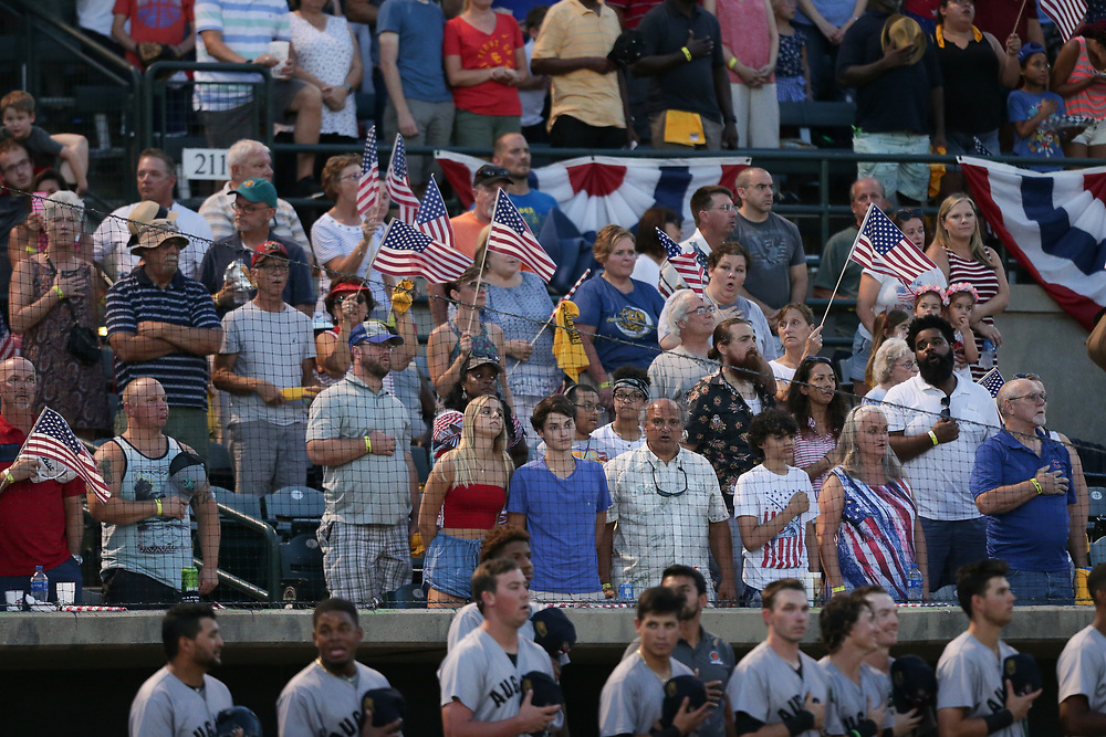 Augusta GreenJackets vs. Charleston RiverDogs at Joseph P. Riley Ballpark in Charleston, S.C. on Wednesday, July 4, 2018.<br /> Zach Bland/Charleston RiverDogs