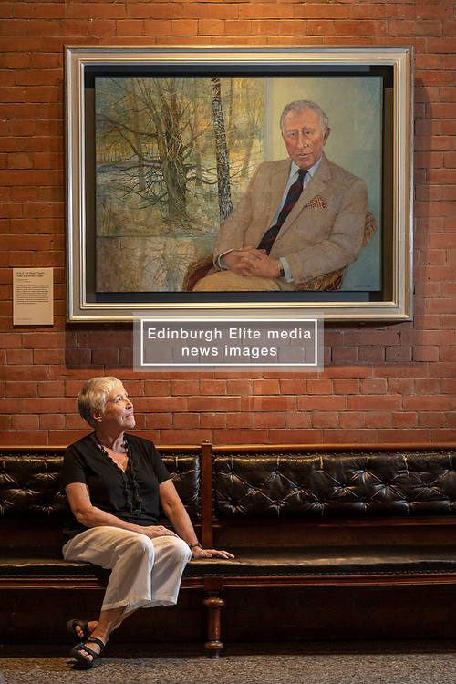 A new portrait of HRH The Prince Charles, Duke of Rothesay, has been unveiled in the Great Hall of the Scottish National Portrait Gallery (SNPG) in Edinburgh on Tuesday 24 July 2018.<br /> <br /> The portrait, painted in oil on linen, is the work of the artist Victoria Crowe and was painted at Birkhall on the Balmoral Estate in Royal Deeside, Aberdeenshire, Scotland earlier this year. This is the first portrait of the Duke of Rothesay to enter the National Galleries of Scotland (NGS) collection.