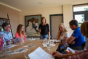 A wine tasting session at Hush Heath Winery, Staplehurst, Kent, England, UK.  (photo by Andrew Aitchison / In pictures via Getty Images)