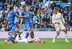 December 6, 2018 - Madrid, Madrid, Spain - Vinicius Jr. of Real Madrid in action during the King Throphy Spanish Championship,  football match between Real Madrid and Melilla on December 06, 2018 at Santiago Bernabeu stadium  in Madrid, Spain. (Credit Image: © AFP7 via ZUMA Wire)