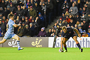 Glasgpw just couldn't keep up with Duhan van der Merwe as he scores another try during the 1872 Challenge Cup, Guinness Pro 14 2018_19 match between Edinburgh Rugby and Glasgow Warriors at BT Murrayfield Stadium, Edinburgh, Scotland on 22 December 2018.
