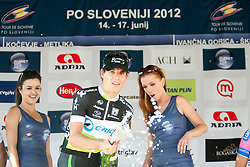 Daryl Impey with Playboy girls during 2nd Stage (177,4 km) at 19th Tour de Slovenie 2012, on June 15, 2012, in Metlika, Slovenia. (Photo by Urban Urbanc / Sportida.com)
