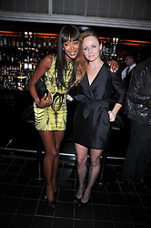 Left to right, NAOMI CAMPBELL and STELLA McCARTNEY at a dinner hosted by Alexandra Shulman editor of British Vogue in association with Net-A-Porter.com to celebrate 25 years of London Fashion Week and Nick Knight held at Le Caprice, Arlington Street, London on 21st September 2009.