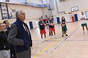 Giovanni Malago<br /> Nazionale Italiana Femminile Senior<br /> Giovanni Malago visita la Nazionale Italiana Femminile Senior<br /> FIP 2017<br /> Roma, 08/11/2017<br /> Foto M.Ceretti / Ciamillo-Castoria