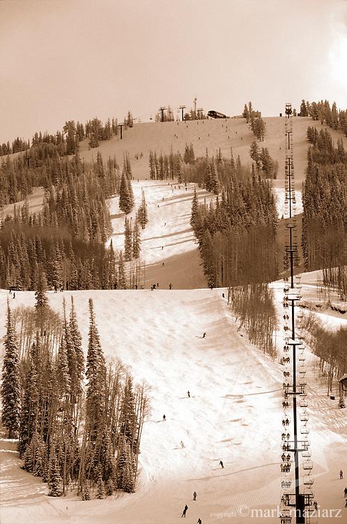 winter scenic of Deer Valley Resort