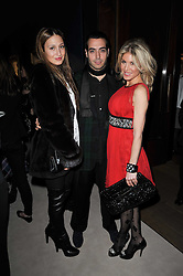 Left to right, ?, MOHAMMED ALTURKI and HOFIT GOLAN at a cocktail party and auction to launch the forthcoming celebrations for Mikhail Gorbachev's 80th birthday held at Christie's, 8 King Street, London on 3rd February 2011.