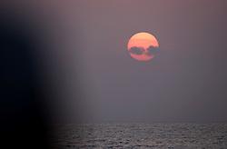 ATLANTIC OCEAN 20NOV14 - Sunrise over the Atlantic Ocean off the coast of Guinea-Conakry.<br /> <br /> jre/Photo by Jiri Rezac / Greenpeace<br /> <br /> <br /> <br /> © Jiri Rezac 2014