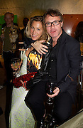 Damien Hirst and his wife  Maia Norman, Party to celebrate Damien'Hirst's Pharmacy. Sotheby's. 15 October 2004. ONE TIME USE ONLY - DO NOT ARCHIVE  © Copyright Photograph by Dafydd Jones 66 Stockwell Park Rd. London SW9 0DA Tel 020 7733 0108 www.dafjones.com