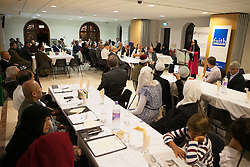 Image ©Licensed to i-Images Picture Agency. 27/09/2014. London, United Kingdom. Safer Giving Dinner Event. Palmers Green Islamic Centre. Picture by Daniel Leal-Olivas / i-Images