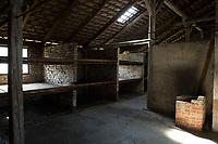 09 APR 2012, KRAKOW/POLAND:<br /> Blick in eine Steinbarake im Sektor I des Lagers, Staatliches polnisches Museum / Gedenkstaette des ehem. Konzentrationslager Ausschitz-Birkenau<br /> IMAGE: 20120409-01-029<br /> KEYWORDS: Krakau, KZ, Vernichtungslagers Auschwitz II–Birkenau, Polen