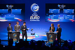September 29, 2017 - Ljubljana, Slovenia, Slovenia - Final Draw UEFA Futsal EURO 2018 on Ljubljana Castle on September 29, 2017 in Ljubljana, Slovenia. (Credit Image: © Damjan Zibert/NurPhoto via ZUMA Press)