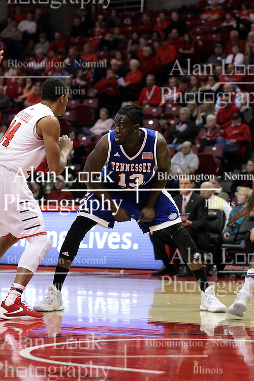 22 December 2015: Samson Oyediran(13). Illinois State Redbirds host the Tennessee State Tigers at Redbird Arena in Normal Illinois (Photo by Alan Look)