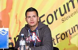 Primoz Simon na okrogli mizi o krizi slovenskega rokometa danes, 26. oktober 2010, kongresna dvorana Mercurius, BTC City, Ljubljana, Slovenija. (Photo by Vid Ponikvar / Sportida)