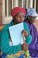 Patients at Gisenyi District Hospital, Rwanda