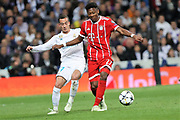 Daniel Alaba (Bayern Munich ) and Lucas Vasquez ( Real Madrid) during the UEFA Champions League, semi final, 2nd leg football match between Real Madrid and Bayern Munich on May 1, 2018 at Santiago Bernabeu stadium in Madrid, Spain - Photo Laurent Lairys / ProSportsImages / DPPI