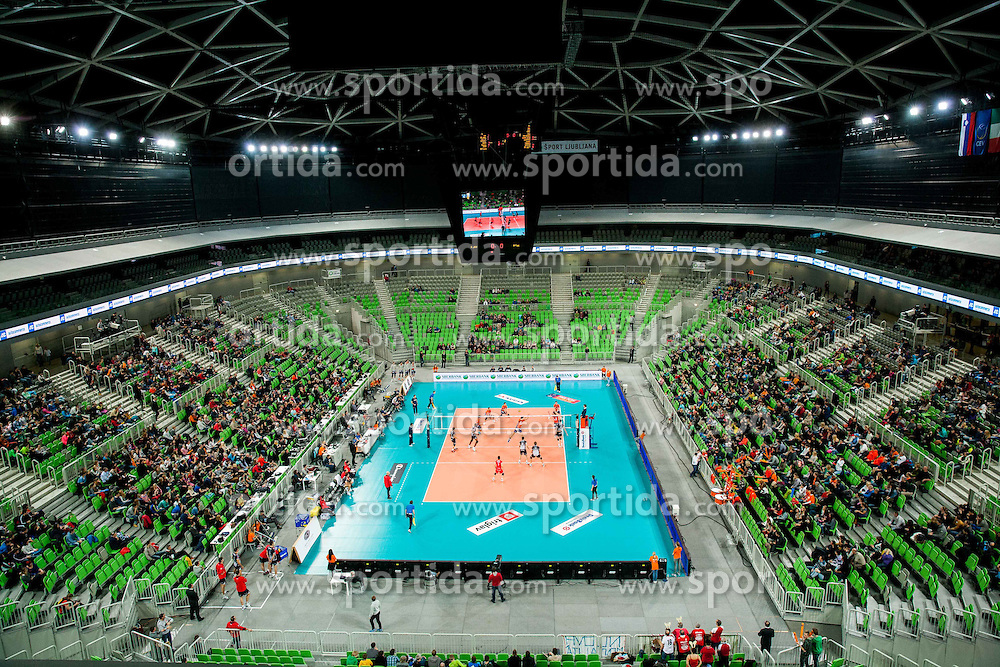 Arena during volleyball match between ACH Volley Ljubljana and Copra Elior Piacenza (ITA) in 6th Round of CEV Champions League 2013/14 on December 18, 2013 in Arena Stozice, Ljubljana, Slovenia.  Photo by Vid Ponikvar / Sportida
