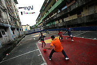 Kids play soccer in San Miguel, a poor barrio in Panama City, Panama on Saturday, September 8, 2007. (Photo/Scott Dalton).