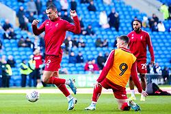 Pedro Pereira of Bristol City and Tommy Rowe of Bristol City warm up - Mandatory by-line: Robbie Stephenson/JMP - 10/11/2019 -  FOOTBALL - Cardiff City Stadium - Cardiff, Wales -  Cardiff City v Bristol City - Sky Bet Championship