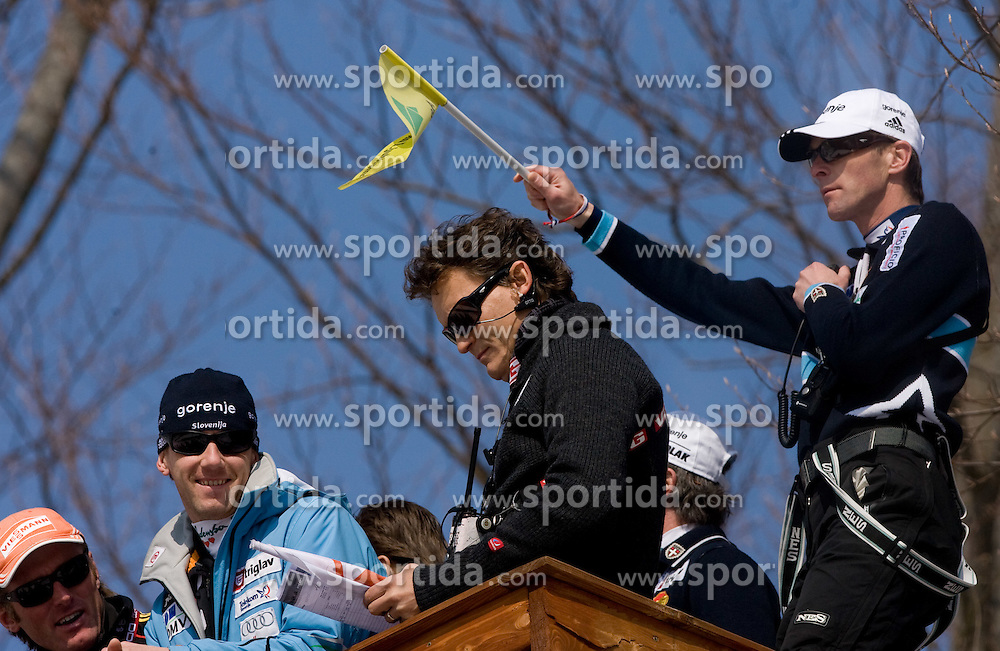 Coach of Slovenia Matjaz Zupan during Flying Hill Individual Trial Round at 3rd day of FIS Ski Flying World Championships Planica 2010, on March 20, 2010, Planica, Slovenia.  (Photo by Vid Ponikvar / Sportida)