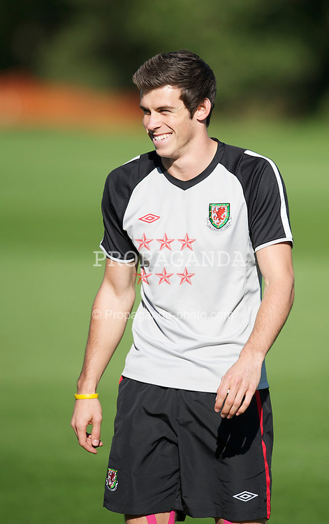 CARDIFF, WALES - Monday, October 4, 2010: Wales' Gareth Bale during a training session at the Vale of Glamorgan ahead of the Euro 2012 qualifying Group G match against Bulgaria. (Pic by David Rawcliffe/Propaganda)
