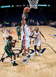 Virginia Cavaliers Forward Lyndra Littles (1) shoots against South Florida.  The Virginia Cavaliers defeated the South Florida Bulls 73-71 in the third round of the Women's NIT held at John Paul Jones Arena in Charlottesville, VA on March 22, 2007.