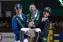 Lamaze Eric, CAN, Ahlmann Christian, GER, Guerdat Steve, SUI<br /> Final Top 10 Rolex IJRC<br /> CHI de Genève 2016<br /> © Hippo Foto - Dirk Caremans<br /> 09/12/2016