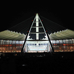 NIGHT VIEW 31ST OCT 09<br /> Moses Mabhida Stadium, Durban<br />  South Africa. Photo by Steve Haag