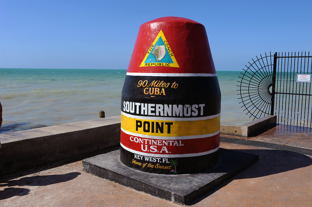 90 Miles to Cuba, Southern Most Point in the Continental USA..Florida 2009..Foto © Stefan Falke.