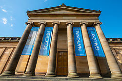 Exterior of the Scottish National Gallery, art museum , on The Mound in Edinburgh, Scotland, United Kingdom, UK.