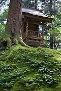 Photo shows a small shrine known as Kaisansha inside the grounds of Heisenji Shrine in Katsuyama, Fukui Prefecture, Japan on Oct. 4, 2016.  ROB GILHOOLY