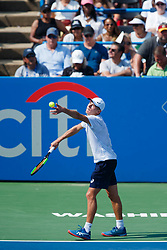 August 5, 2018 - Washington D.C, DC, U.S. - WASHINGTON D.C., DC - AUGUST 05: ALEX DE MINAUR (AUS) during day seven match of the 2018 Citi Open on August 05, 2018 at Rock Creek Park Tennis Center in Washington D.C. (Photo by Chaz Niell/Icon Sportswire) (Credit Image: © Chaz Niell/Icon SMI via ZUMA Press)