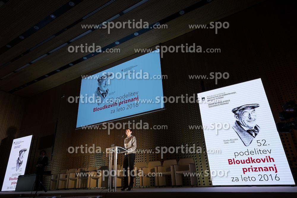 Maja Makovec Brencic at 52th Annual Awards of Stanko Bloudek for sports achievements in Slovenia in year 2016 on February 14, 2017 in Brdo Congress Center, Brdo, Ljubljana, Slovenia.  Photo by Martin Metelko / Sportida