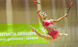 Arianna Malavasi of Italy competes during 28th MTM - International tournament in rhythmic gymnastics Ljubljana, on April 4, 2015 in Arena Krim, Ljubljana, Slovenia. Photo by Matic Klansek Velej / Sportida