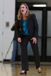 Dec 7, 2011; San Francisco CA, USA; Florida Gators head coach Amanda Butler on the sidelines against the San Francisco Lady Dons during the first half at War Memorial Gym.  Mandatory Credit: Jason O. Watson-US PRESSWIRE