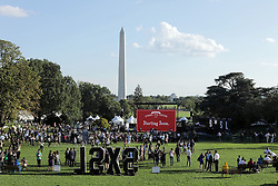 October 3, 2016 - Washington, DC, United States of America - Attendees during the South by South Lawn festival on the South Lawn of the White House October 3, 2016 in Washington, DC. The event is inspired by the South by Southwest festival and includes arts, film, entertainment and technology. (Credit Image: © Chuck Kennedy/Planet Pix via ZUMA Wire)