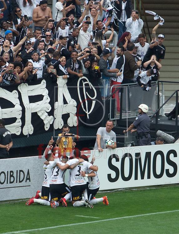Jo comemora o gol durante a partida Corinthians X Palmeiras, partida válida pela trigésima segunda rodada do Campeonato Brasileiro  da Série A 2017, na arena Corinthians  zona leste da capital paulista. Foto Marcelo D. Sants/FramePhoto.