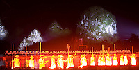 "Every night in Yangshuo Zhang Yimou's ""Liu Sanjie Impressions"" performance is carried out on the Li River using the spectacular limestone karsts as a backdrop and more than 500 local performers."