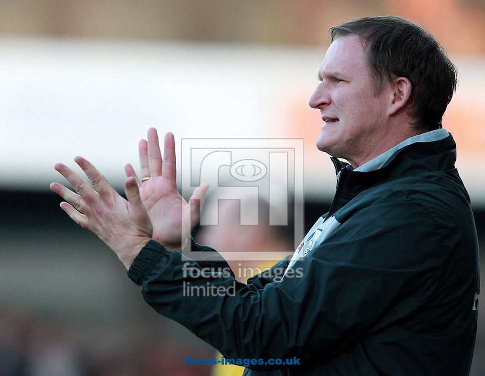 Picture by Paul Terry/Focus Images Ltd +44 7545 642257.23/04/2013.Simon Grayson, manager of Preston North End during the npower League 1 match at Broadfield Stadium, Crawley.
