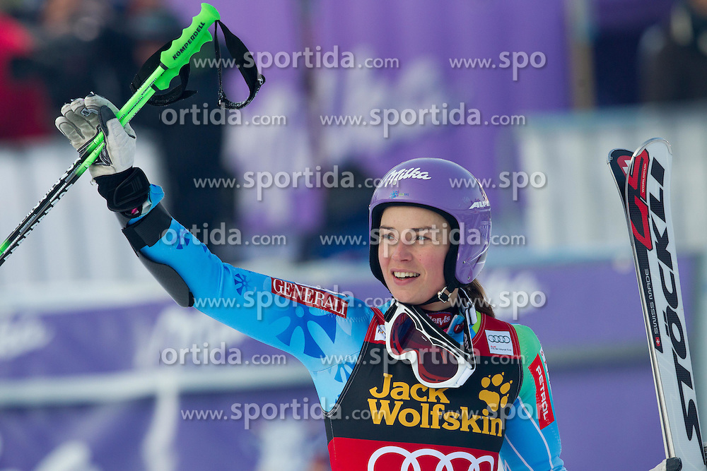 "Second placed MAZE Tina of Slovenia after the 2nd Run of FIS Alpine Ski World Cup 7th Ladies' Giant Slalom race named ""49th Golden Fox 2013"", on January 26, 2013 in Mariborsko Pohorje, Maribor, Slovenia. (Photo By Vid Ponikvar / Sportida.com)"