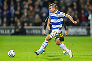 Queens Park Rangers defender Àngel Rangel (22) on the ball during the EFL Sky Bet Championship match between Queens Park Rangers and Brentford at the Kiyan Prince Foundation Stadium, London, England on 28 October 2019.