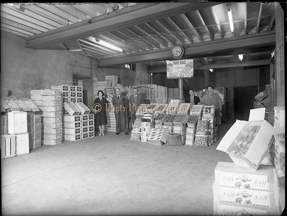 Views of Dublin Corporation Fruit Market.03/02/1959