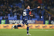 Bolton Wanderers midfielder Lawrie Wilson celebrates after scores the third goal making it  2-1 during the Sky Bet Championship match between Bolton Wanderers and Ipswich Town at the Macron Stadium, Bolton, England on 8 March 2016. Photo by Simon Brady.