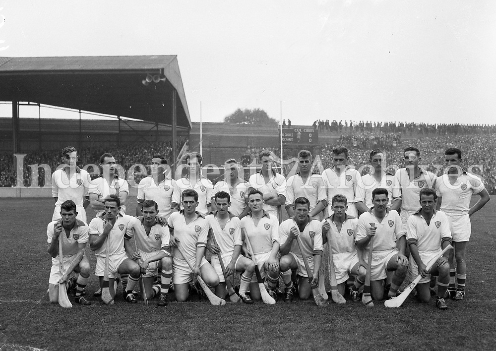 Waterford Hurling Team who played Kilkenny in All-Ireland Final at Croke Park. 06/09/1959. (Part of the Independent Ireland Newspapers/NLI Collection)