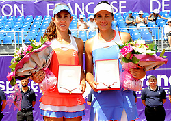 May 26, 2018 - France - Internationaux de tennis de Strasbourg - Mihaela Buzarnescu Roumanie Ralaca Olaru Roumanie (Credit Image: © Panoramic via ZUMA Press)