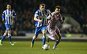 Brighton striker (on loan from Manchester United), James Wilson (21) during the Sky Bet Championship match between Brighton and Hove Albion and Reading at the American Express Community Stadium, Brighton and Hove, England on 15 March 2016.