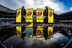 The Rolling Stones perform on stage at Murrayfield Stadium in Edinburgh, Scotland.